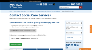 Suffolk Social Services website