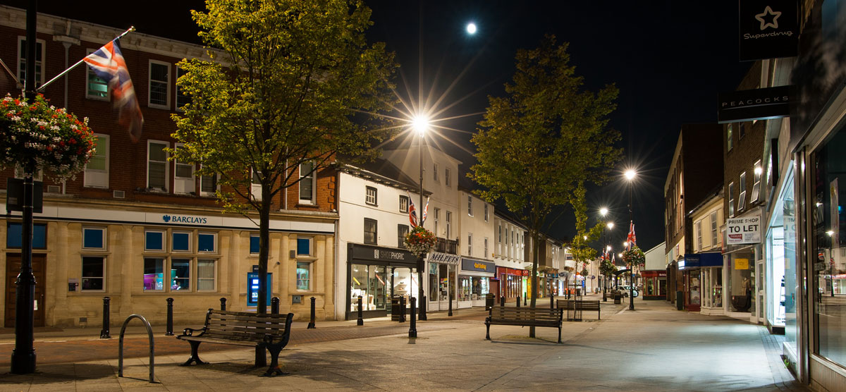 Stowmarket at night
